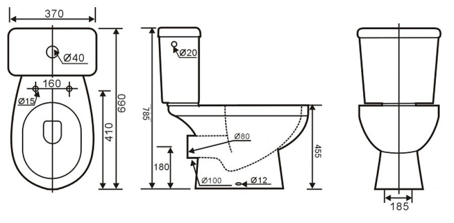 Dimension wc plan gascity for for Plan salle de bain wc