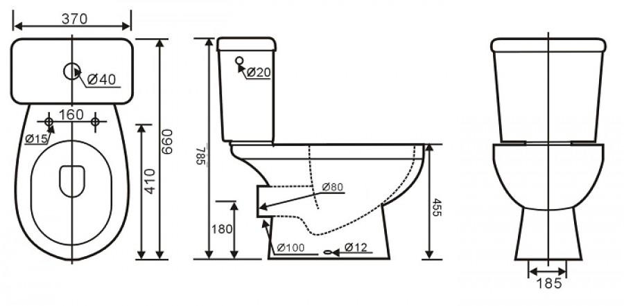 pack wc sur lev dresso sortie horizontale. Black Bedroom Furniture Sets. Home Design Ideas