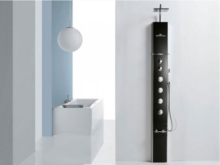 colonne de douche thermostatique hydromassante cascata 1 meuble de salle. Black Bedroom Furniture Sets. Home Design Ideas