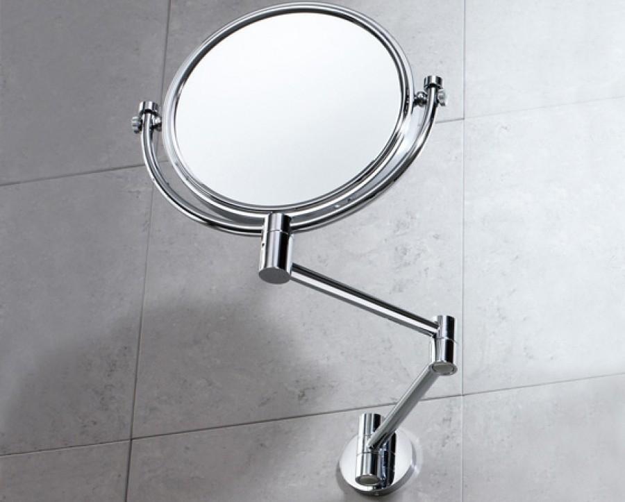 Miroir mural orientable grossissant non grossissant for Miroir orientable