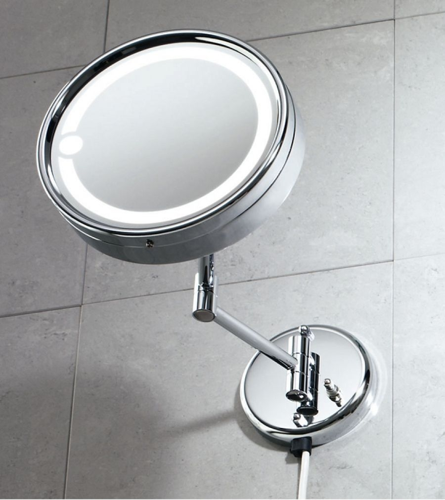 Miroir mural orientable grossissant avec eclairage 2105 for Miroir orientable