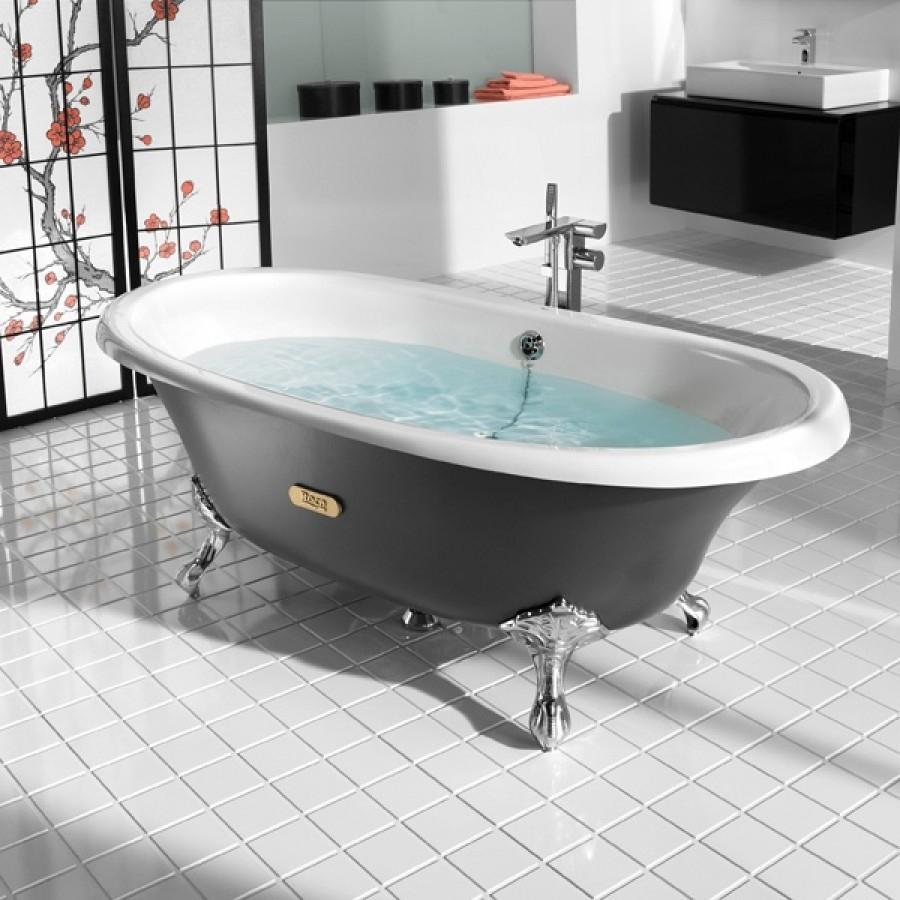 baignoire r tro en fonte newcast eagle cuve meuble de salle de bain douche. Black Bedroom Furniture Sets. Home Design Ideas
