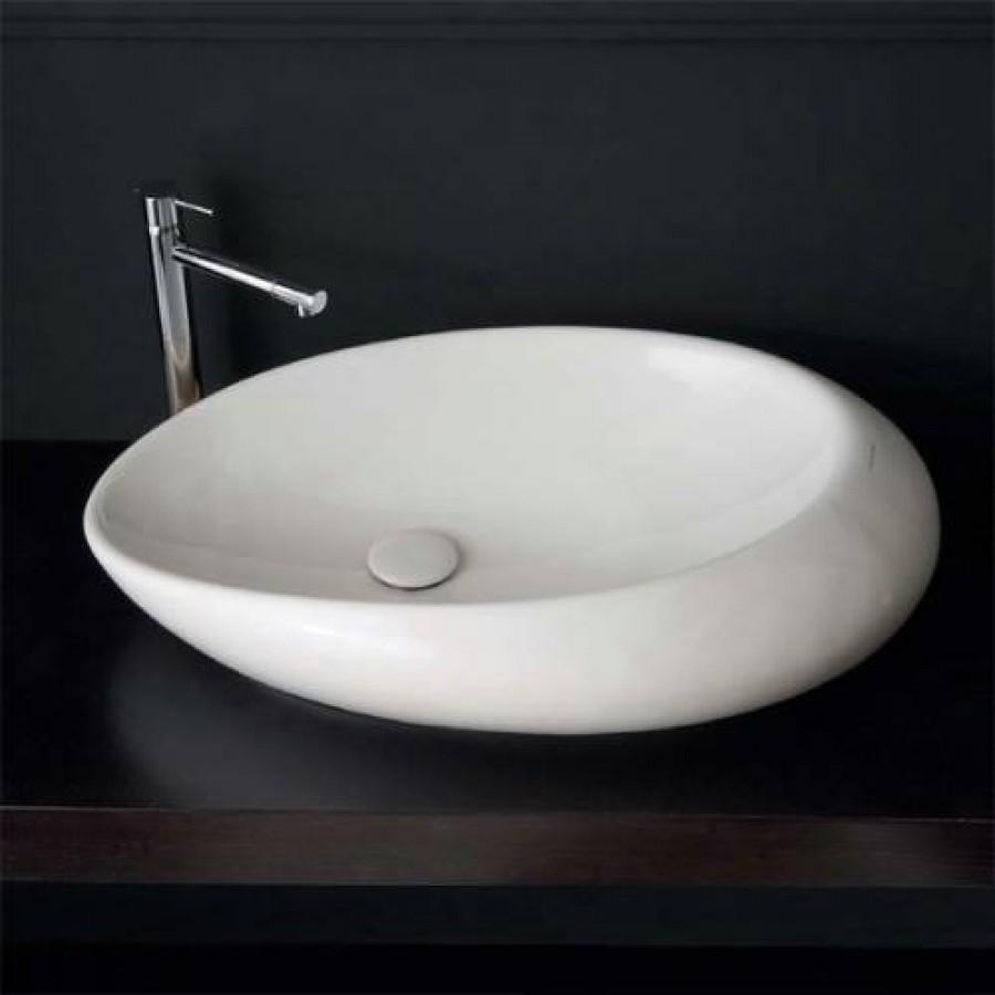 vasque a poser blanche Sanitaire.fr