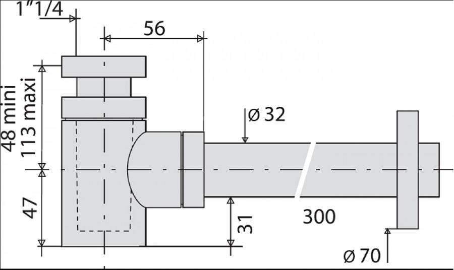 siphon design laiton cylindrix valentin 142500 meuble de salle de bain douche. Black Bedroom Furniture Sets. Home Design Ideas