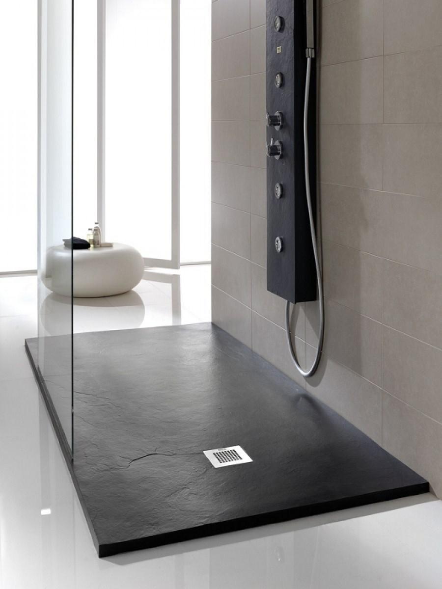 receveur de douche souple soft noir