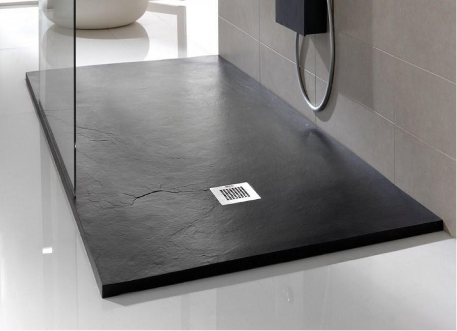 receveur de douche souple soft noir. Black Bedroom Furniture Sets. Home Design Ideas