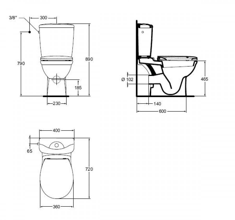 pack wc sur lev sortie horizontale kheops ideal meuble de salle de bain. Black Bedroom Furniture Sets. Home Design Ideas