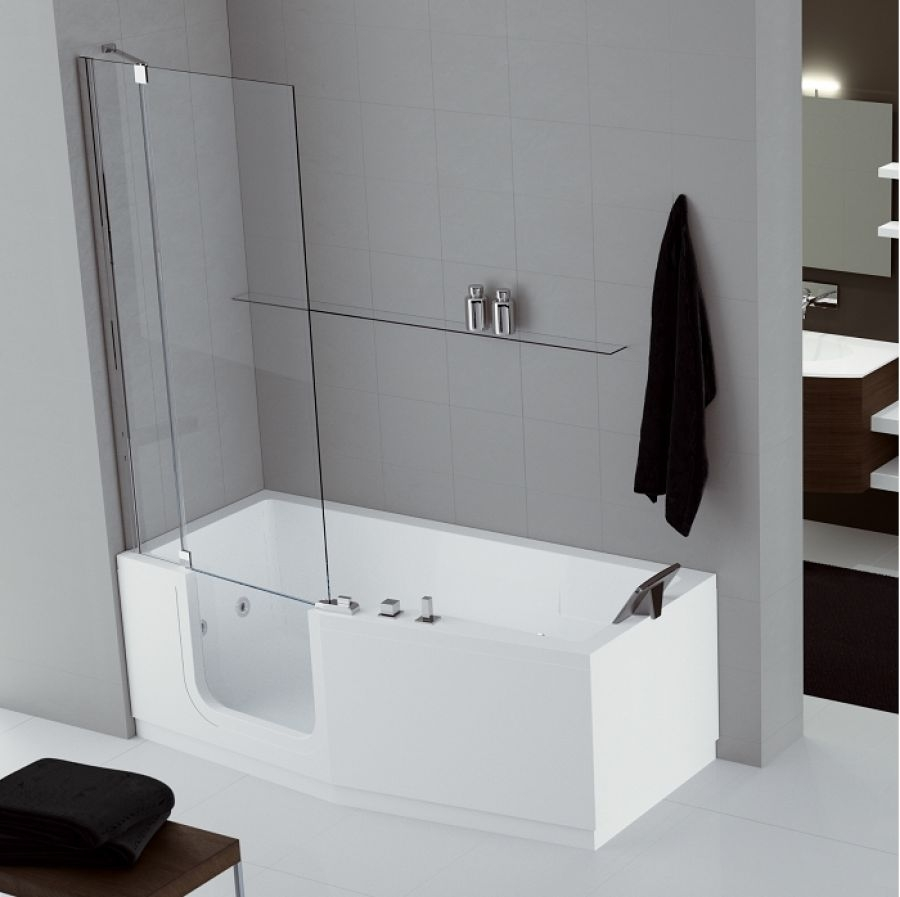 combin bain douche iris 170x70 80 version gauche 2 meuble de salle. Black Bedroom Furniture Sets. Home Design Ideas