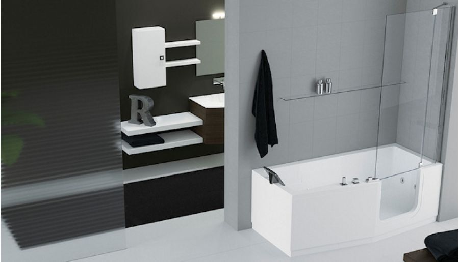 combin bain douche iris 180 x 75 85 version. Black Bedroom Furniture Sets. Home Design Ideas