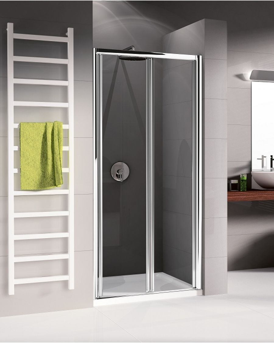 porte de douche pliante 2 volets lunes s 60cm transparent meuble de salle. Black Bedroom Furniture Sets. Home Design Ideas