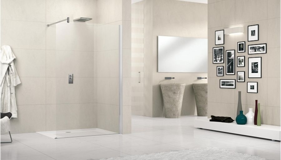 paroi de douche fixe lunes h 70cm transparent meuble de salle de bain. Black Bedroom Furniture Sets. Home Design Ideas
