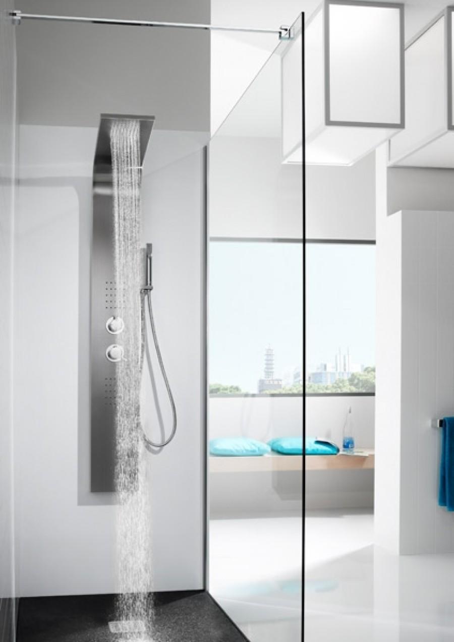 colonne de douche avec hydromassage essential 2 0 roca meuble de salle de bain. Black Bedroom Furniture Sets. Home Design Ideas