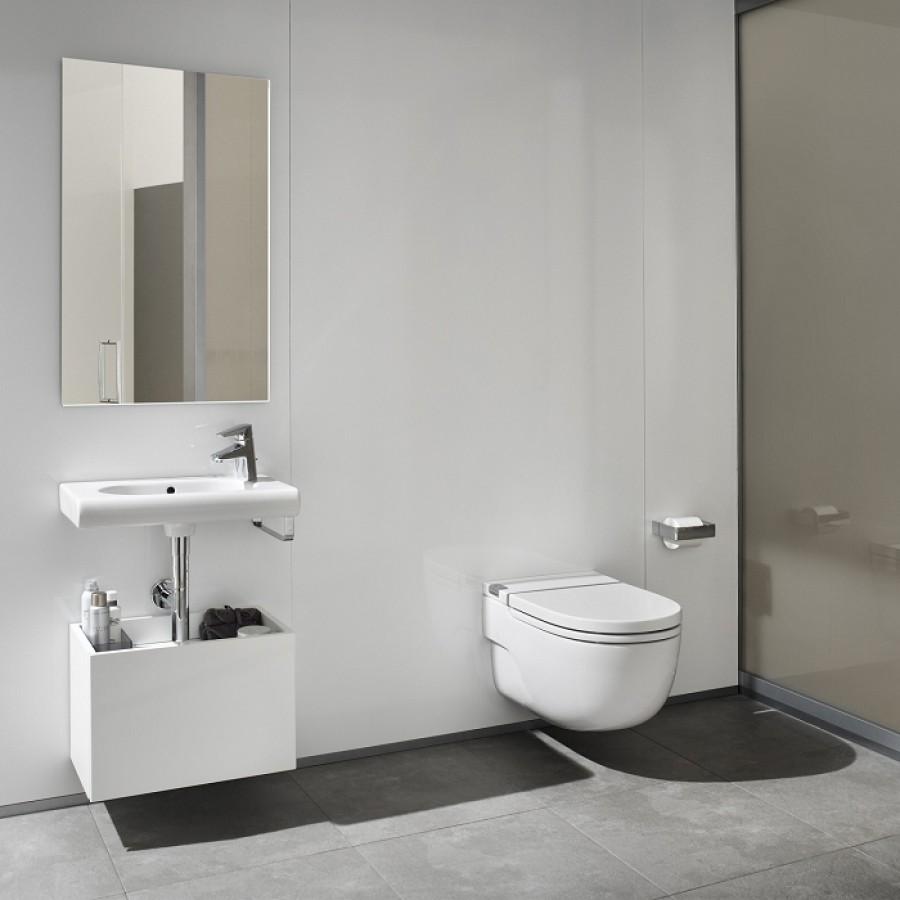 Cuvette suspendue avec r servoir int gr pour cloison l g re in tank sanitair - Toilette avec lave main integre castorama ...