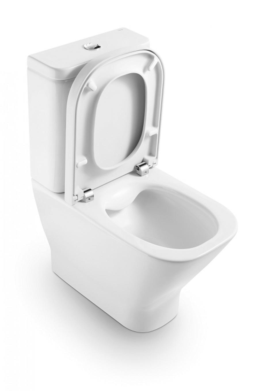 Pack WC sortie Duale CleanRim The Gap Compact Roca - Alimentation latérale inférieure