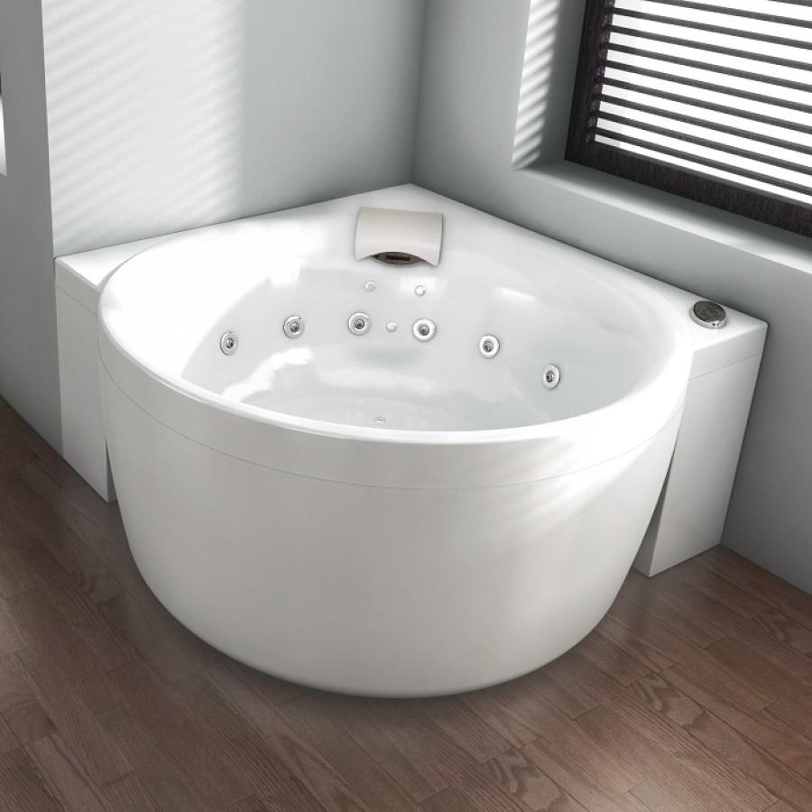 Baignoire baln o pure design 145x145 concept detente blanc for Balneo ronde pas chere le havre