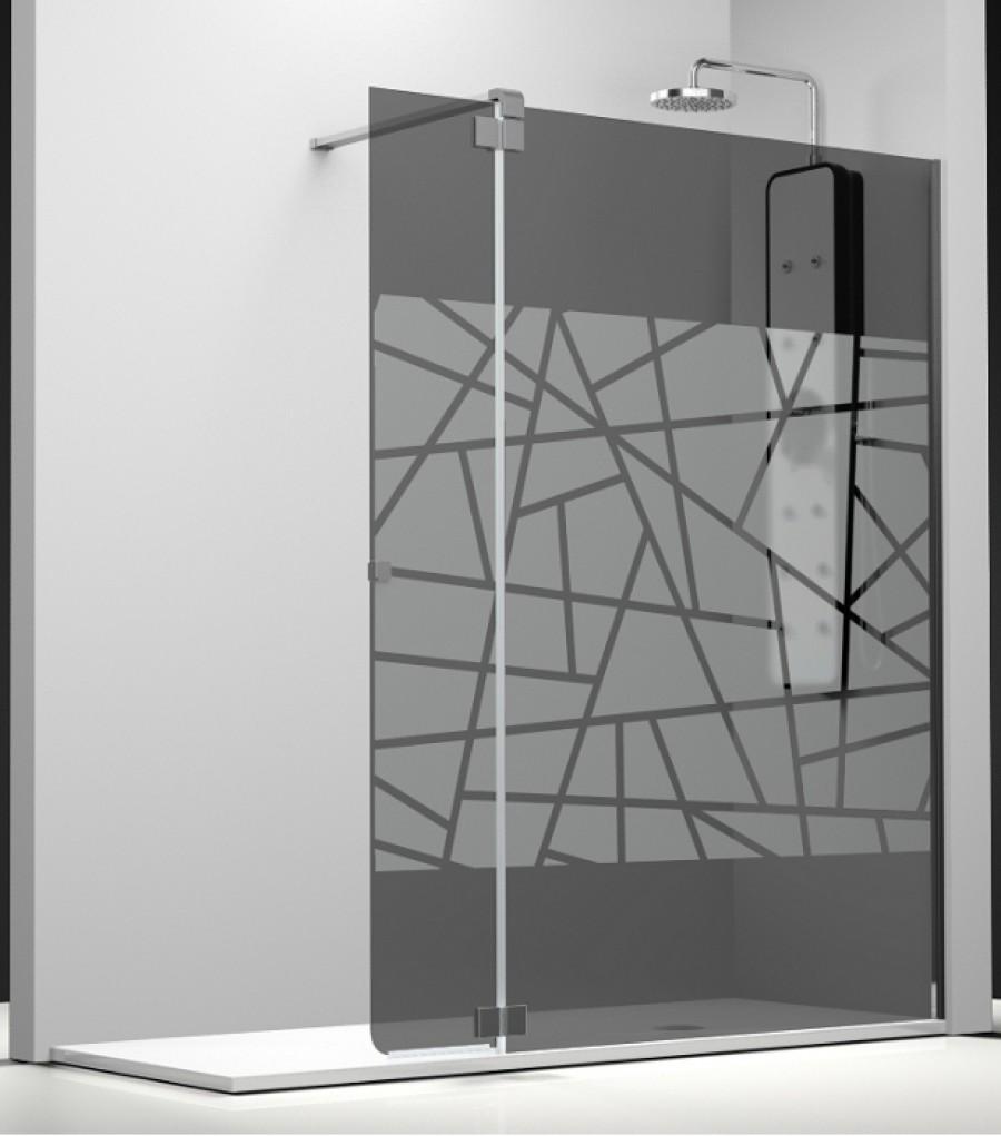paroi fixe volet verre fum sabl rayas 100 35cm meuble de salle de bain. Black Bedroom Furniture Sets. Home Design Ideas