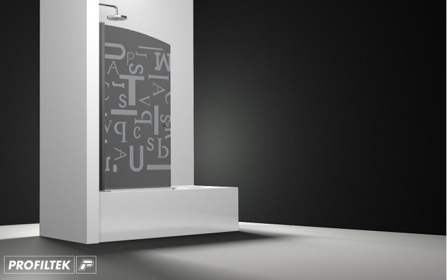 pare bain arcoiris pivotant verre fum sabl letras 90x150. Black Bedroom Furniture Sets. Home Design Ideas