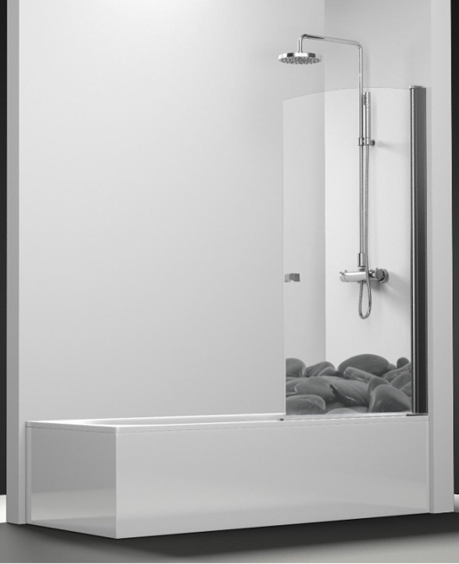 pare bain arcoiris pivotant impression galets noirs 70x150 meuble de salle. Black Bedroom Furniture Sets. Home Design Ideas