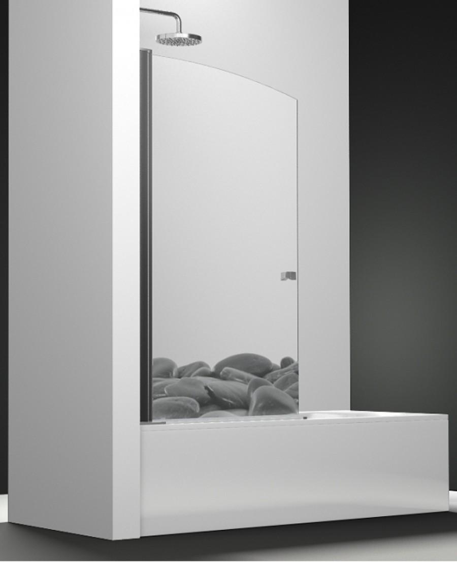 pare bain arcoiris pivotant impression galets noirs 80x150 meuble de salle. Black Bedroom Furniture Sets. Home Design Ideas