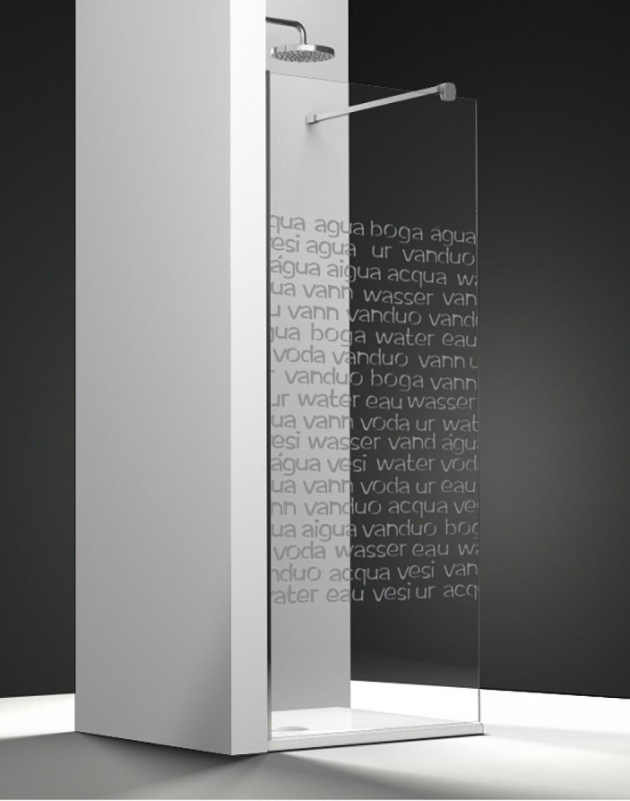 Paroi De Douche Fixe One Verre Transparent Sable Aqua 70cm Gauche
