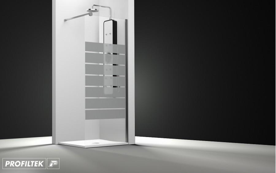 paroi de douche fixe one verre transparent sabl barres 120cm meuble de. Black Bedroom Furniture Sets. Home Design Ideas