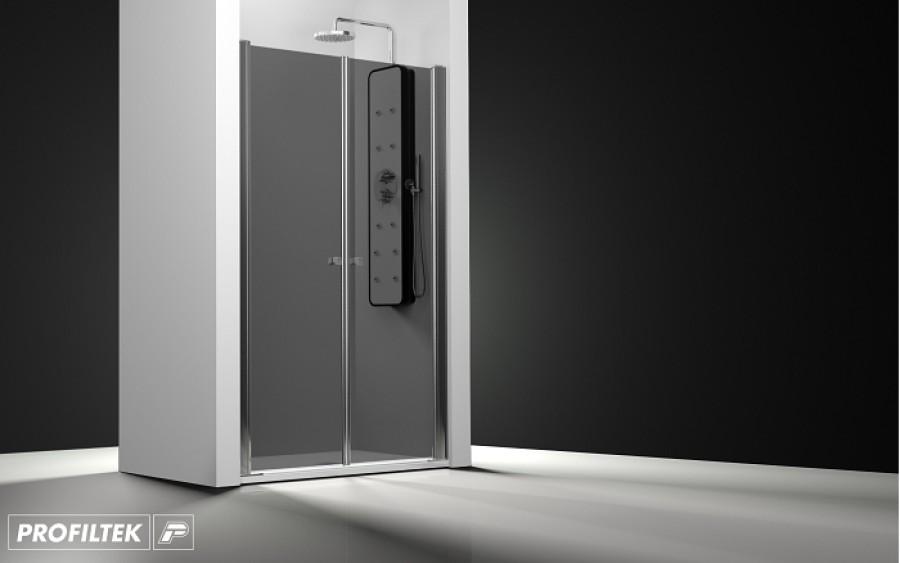 porte de douche 2 panneaux battants verre fum meuble de salle de bain. Black Bedroom Furniture Sets. Home Design Ideas