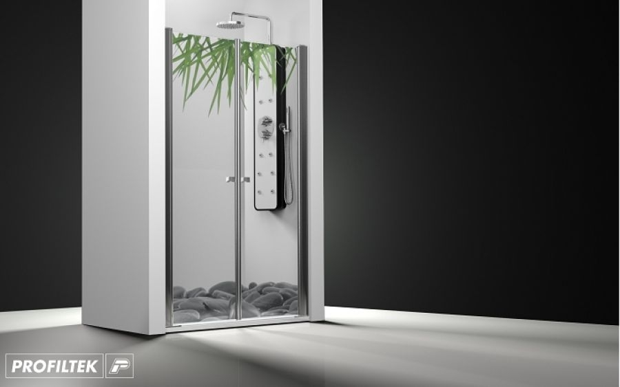 Porte de douche 2 panneaux battants impression relax for Porte douche battant