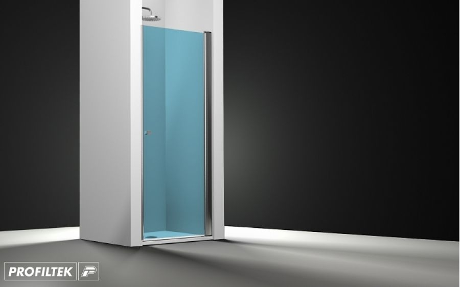 porte de douche pivotante verre bleu 60cm meuble de salle de bain douche. Black Bedroom Furniture Sets. Home Design Ideas