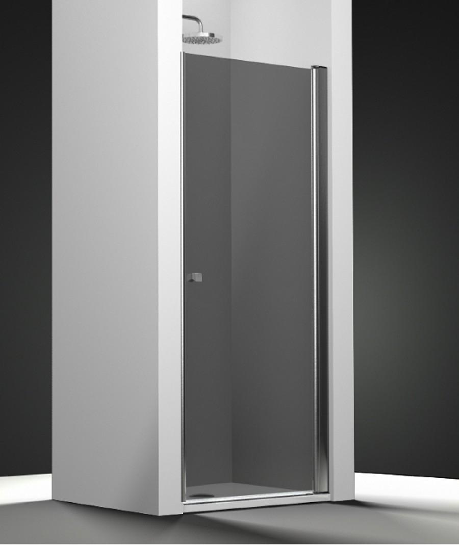porte de douche pivotante verre fum 60cm droite. Black Bedroom Furniture Sets. Home Design Ideas