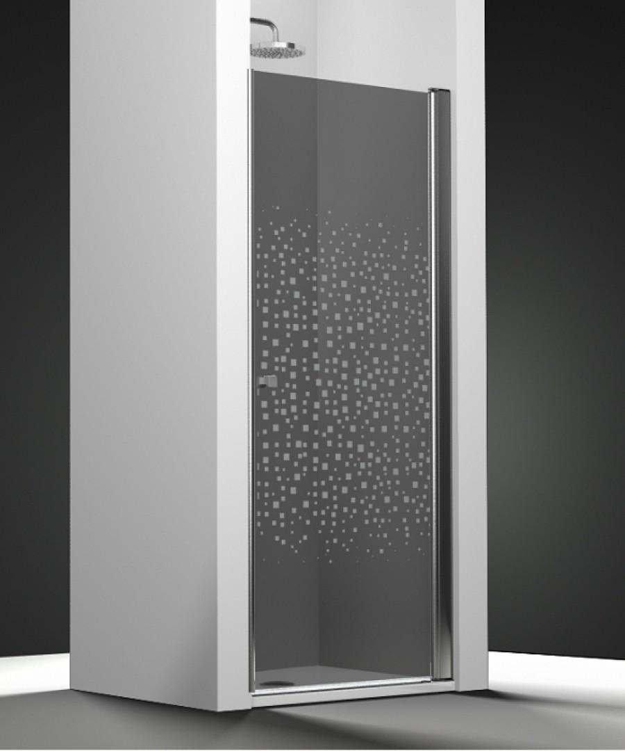 Porte de douche pivotante verre fum sabl splash 60cm for Porte douche largeur 60 cm