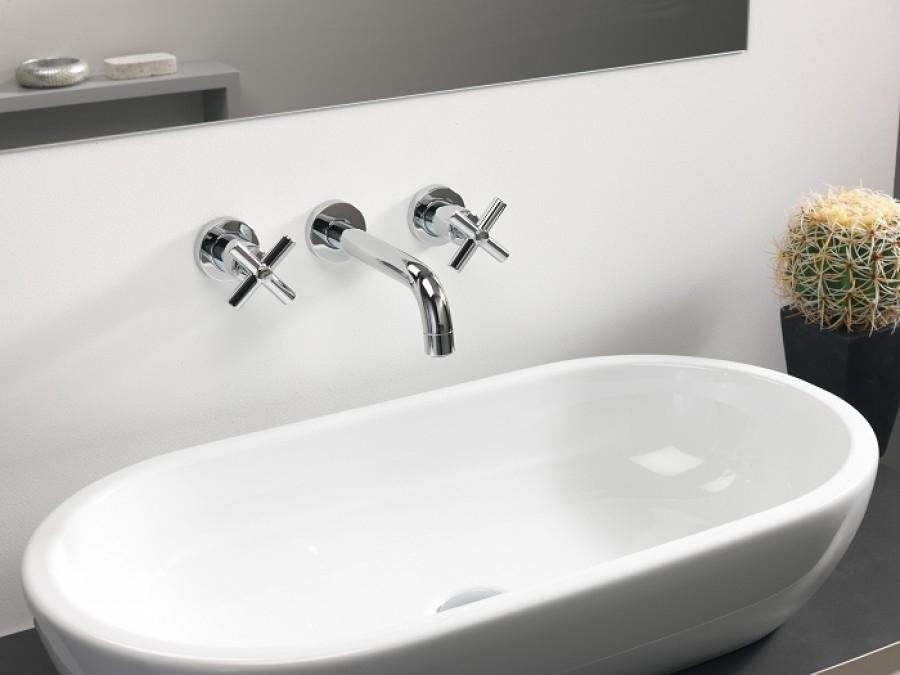 m langeur lavabo mural 3 trous executive meuble de salle de bain douche. Black Bedroom Furniture Sets. Home Design Ideas