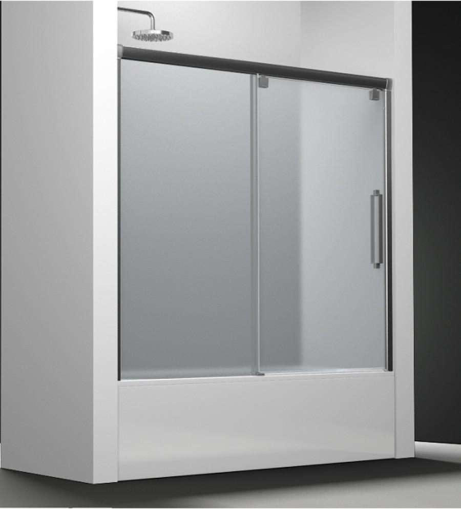 Paroi de baignoire verre sabl carglass 1 panneau coulissant 150cm version dr - Panneau de baignoire ...