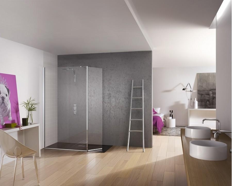 paroi de douche fixe volet pivotant kinespace duo 90. Black Bedroom Furniture Sets. Home Design Ideas