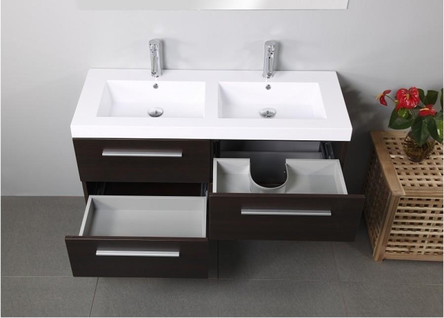 Meuble double vasque saturn 120cm weng meuble de salle de bain - Meuble salle de bain double vasque 120 cm ...