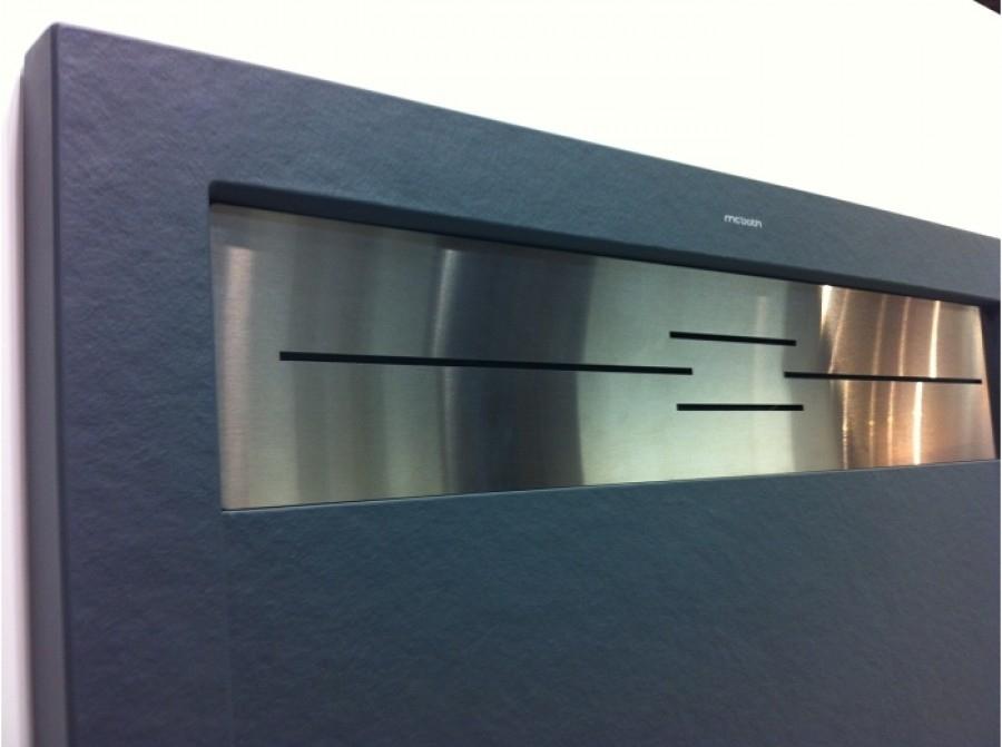 receveur de douche coulement lin aire androm de graphite meuble de salle. Black Bedroom Furniture Sets. Home Design Ideas