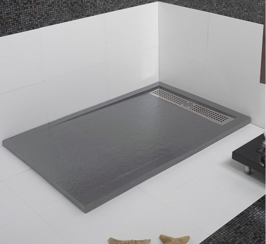 receveur de douche coulement lin aire androm de ciment 90x120. Black Bedroom Furniture Sets. Home Design Ideas