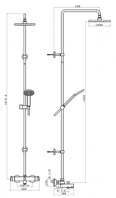 colonne bain douche thermostatique soft sf18851sanitaire. Black Bedroom Furniture Sets. Home Design Ideas