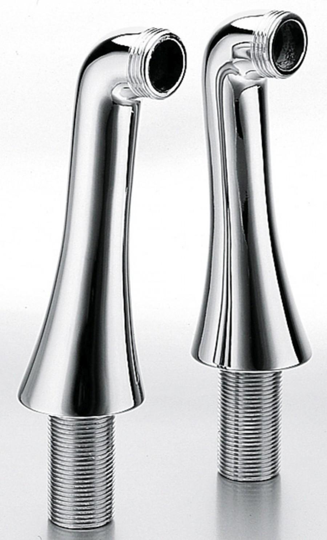 Paires de colonnettes fixation Rétro Chromé - CH16051