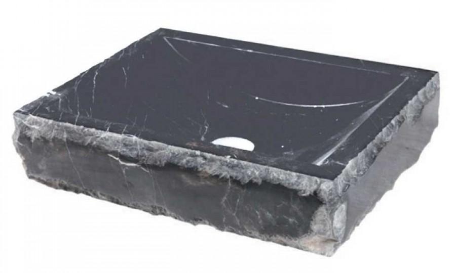 Vasque à poser en pierre rectangulaire noir UC3307