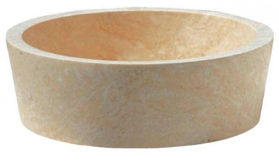 vasque poser en pierre ronde diam tre 42cm meuble de salle de bain. Black Bedroom Furniture Sets. Home Design Ideas