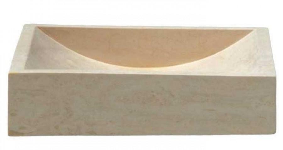 Vasque à poser en pierre rectangulaire UC3005