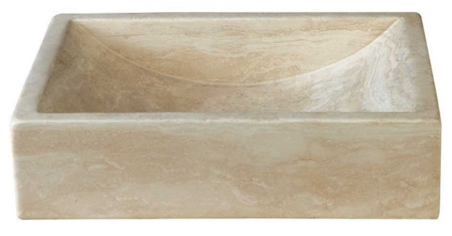 Vasque à poser en pierre rectangulaire UC3105