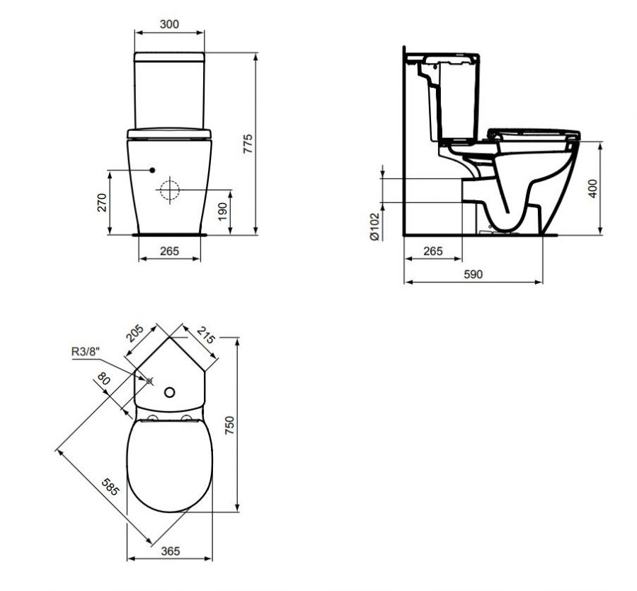 pack wc d 39 angle connect space sortie horizontale meuble de salle de bain. Black Bedroom Furniture Sets. Home Design Ideas