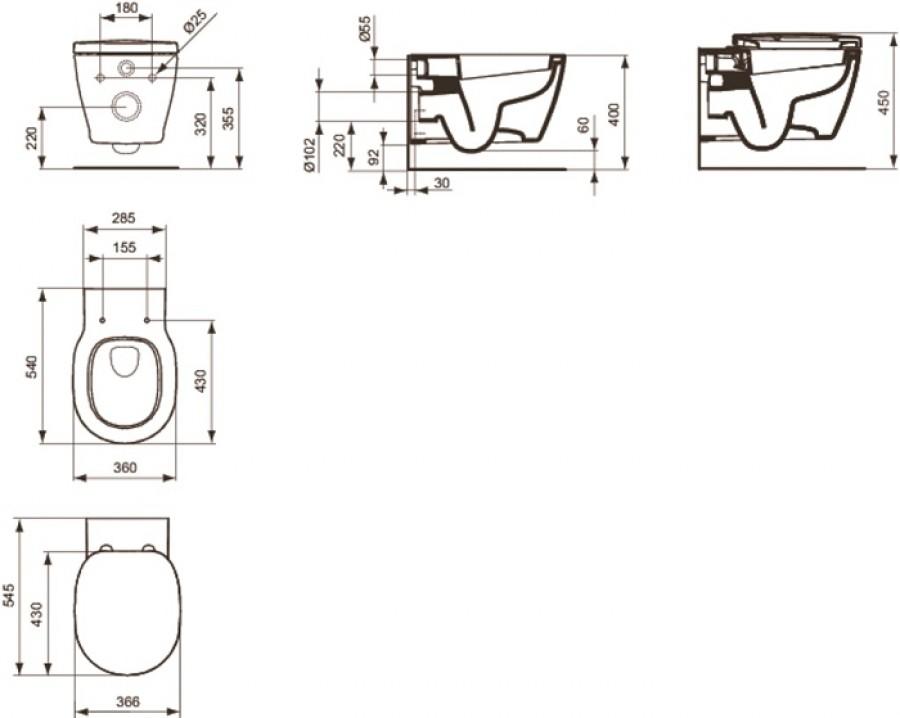 Wc gain de place sortie verticale  wc gain place sortie vertical sur