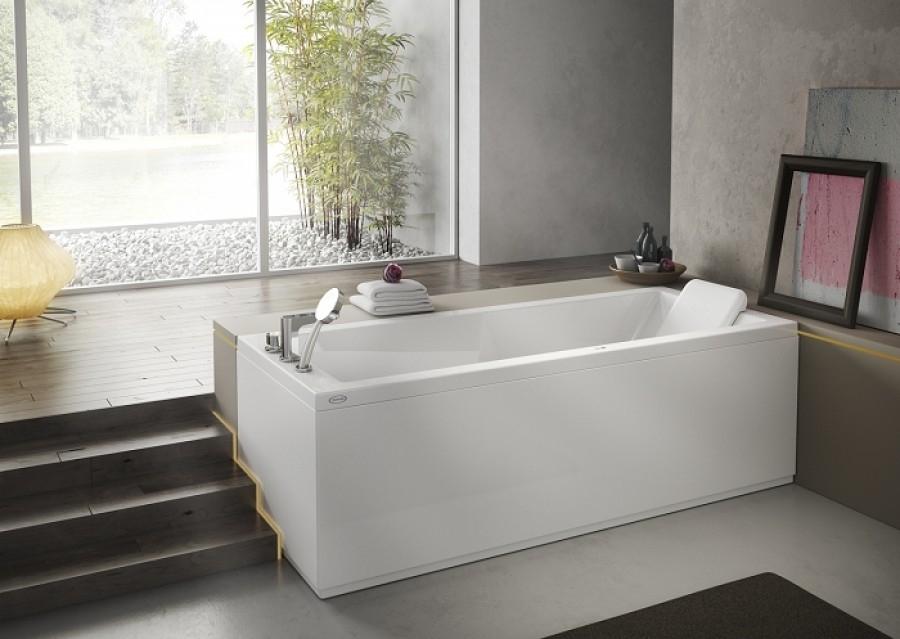 baignoire baln o energy rectangulaire 170x70 t te droite meuble de. Black Bedroom Furniture Sets. Home Design Ideas