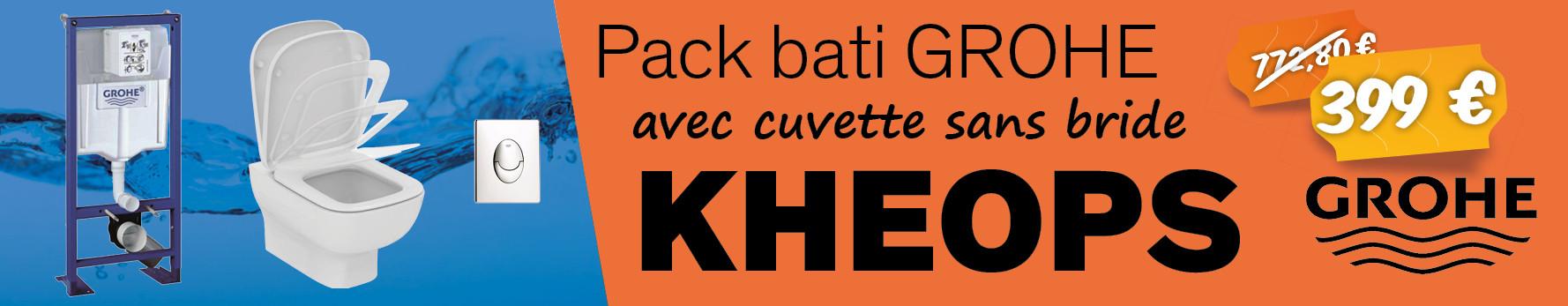 Pack Grohé Rapid SL + Cuvette KHEOPS Aquablade + Plaque Blanche